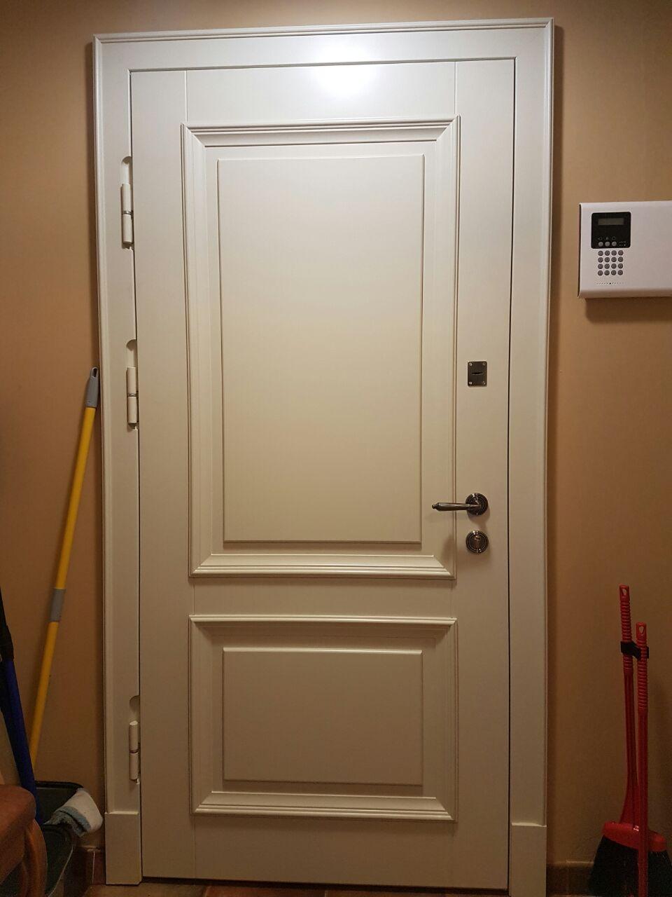 входные белые квартирные двери москва