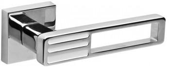 Ручка раздельная QUATTRO DM CP/WH-19 хром/белый