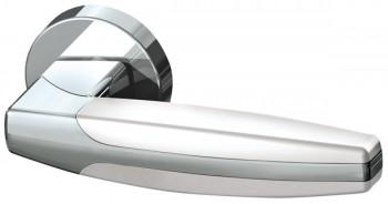Ручка раздельная ARC URB2 CP/CP/White-14  Хром/хром/белый