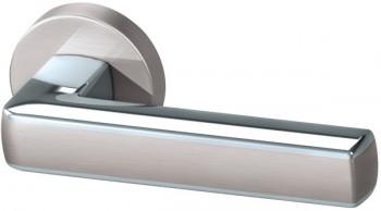 Ручка раздельная CUBE  URB3 SN/CP/SN-12 Матовый никель/хром/матовый никель