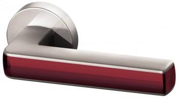 Ручка раздельная CUBE URB3  SN/Bordo-18 Матовый никель/бордовый