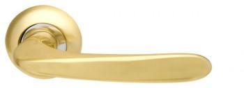 Ручка раздельная Pava LD42-1SG/CP-1 матовое золото/хром