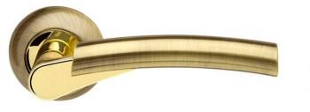 Ручка раздельная Vega LD21-1AB/GP-7 бронза/золото