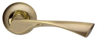 Ручка раздельная Corona LD23-1AB/GP-7 бронза/золото