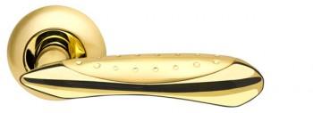 Ручка раздельная Corvus LD35-1SG/GP-4 матовое золото/золото