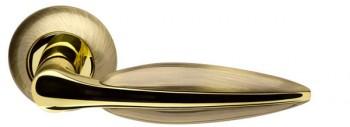 Ручка раздельная Lacerta LD58-1AB/GP-7 бронза/золото