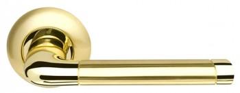 Ручка раздельная Stella LD28-1SG/GP-4 матовое золото/золото TECH (кв. 8х140)