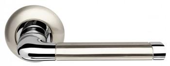 Ручка раздельная Stella LD28-1SN/CP-3 матовый никель/хром TECH (кв. 8x140)