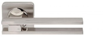 Ручка раздельная BRISTOL SQ006-21SN/CP-3 матовый никель/хром