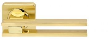 Ручка раздельная BRISTOL SQ006-21SG/GP-4 матовое золото/золото