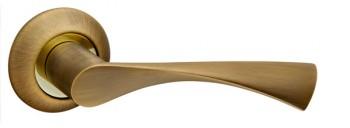 Ручка раздельная CLASSIC AR AB/GP-7 бронза/золото, квадрат 8x130 мм