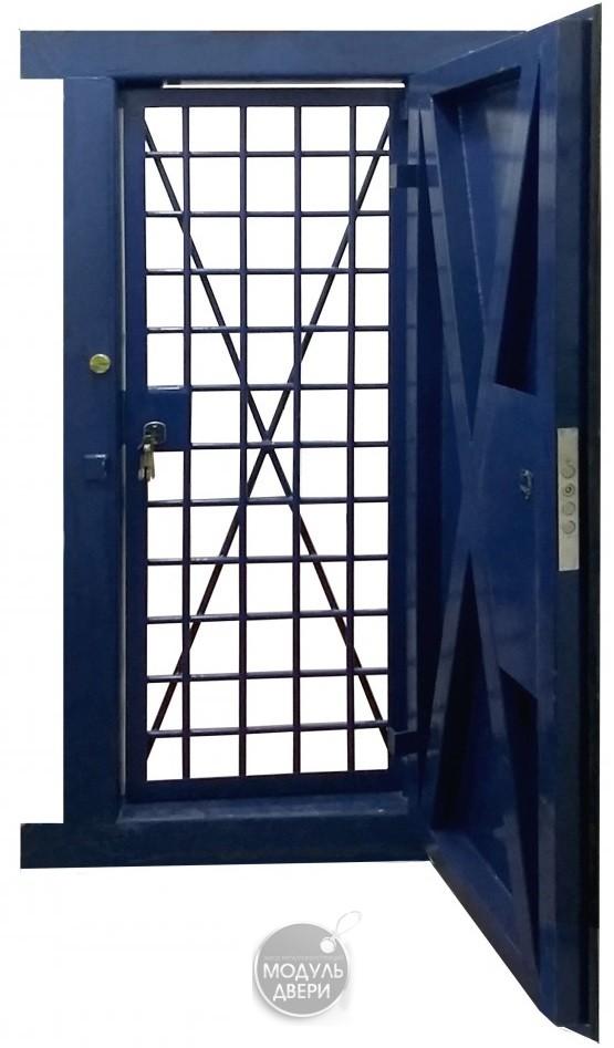дверь решетчатая металлическая для оружейных комнат