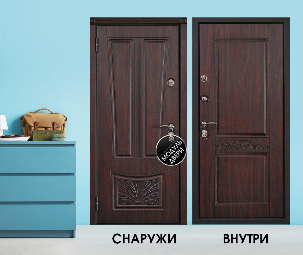 стальные квартирные двери мдф