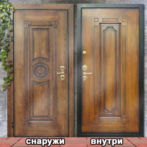 элитные входные двери с художественной резьбой
