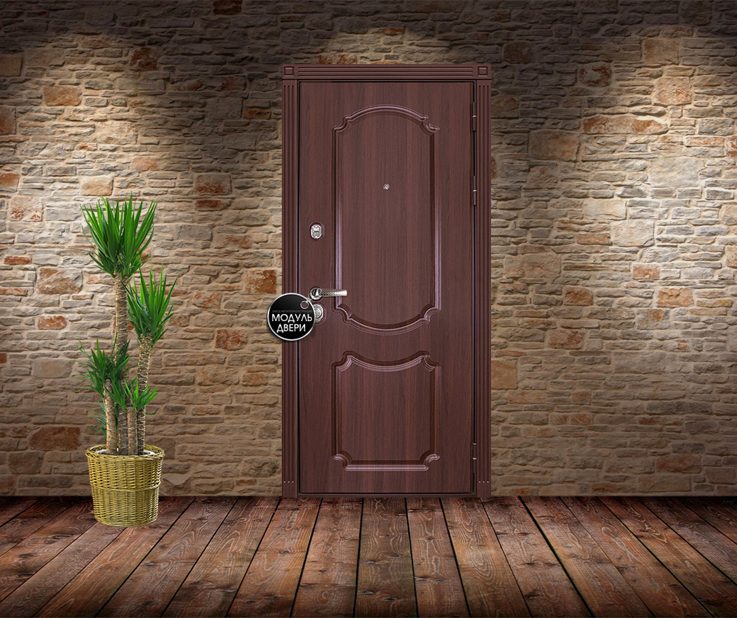 металлические двери с отделкой порошковым напылением