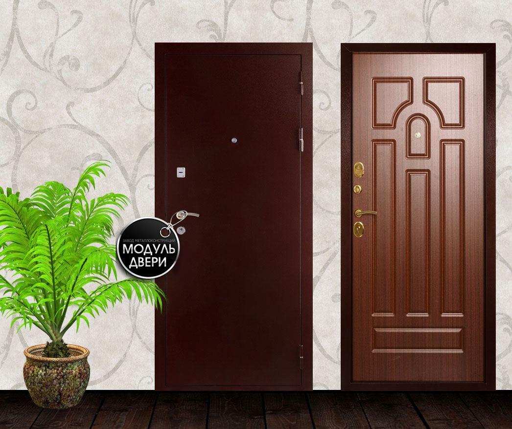 дверь железная установка климовск