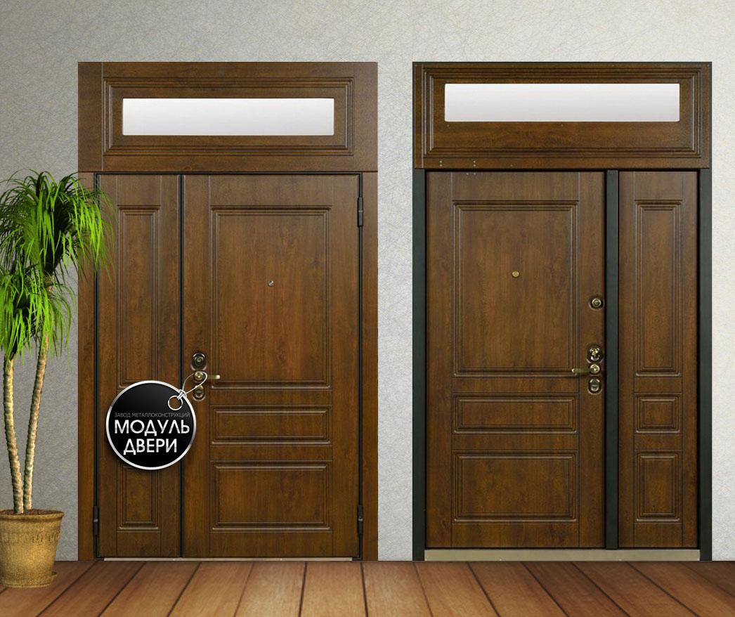 дверь с фрамугами входная установка