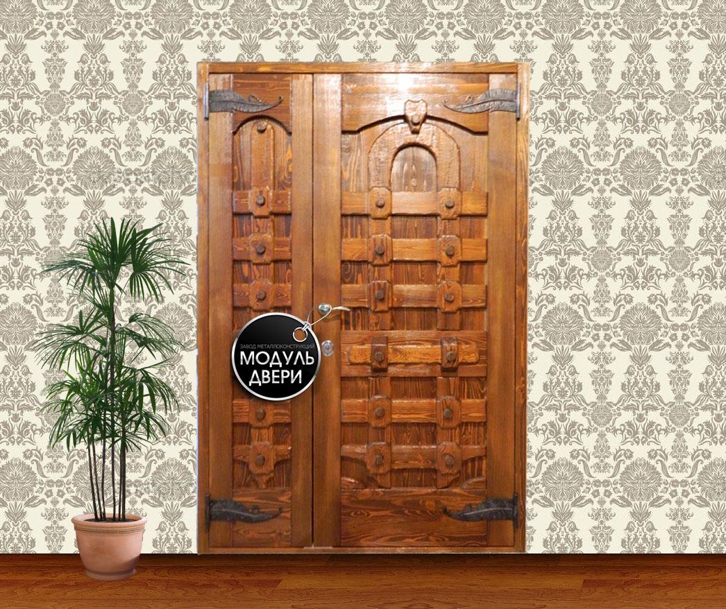 дверь входная двустворчатая на заказ
