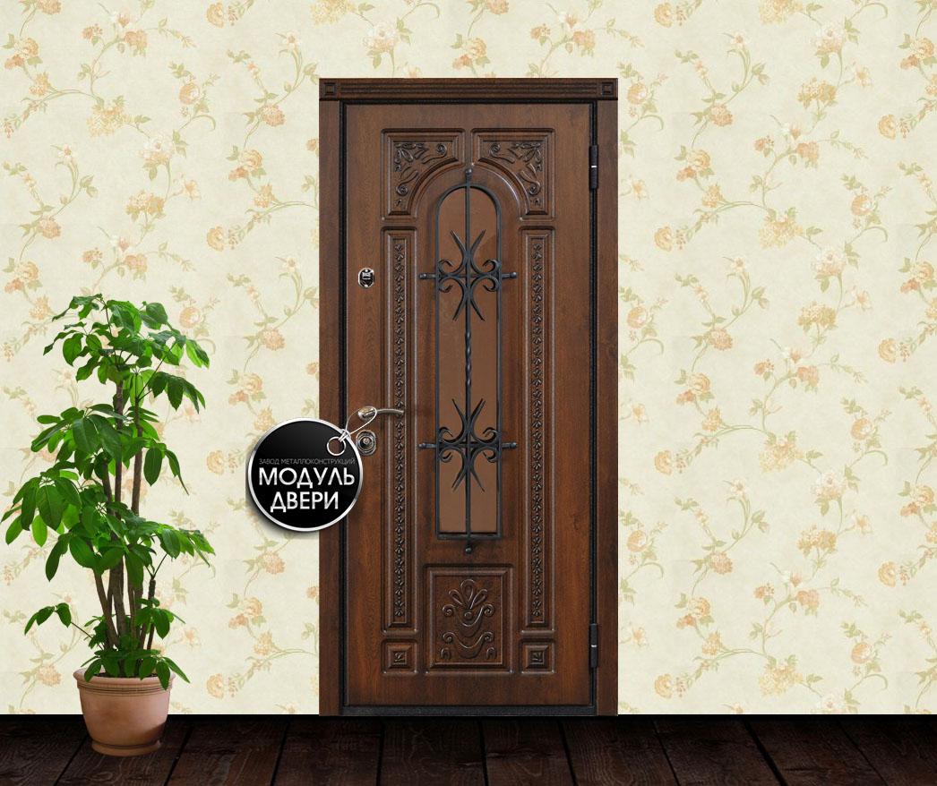 коттеджные входные двери из массива