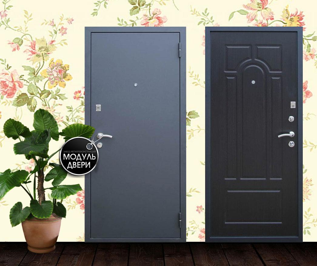 обычные металлические теплые двери с порошковым напылением