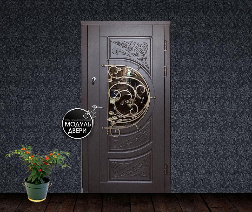 металлические двери со стеклом в ступино