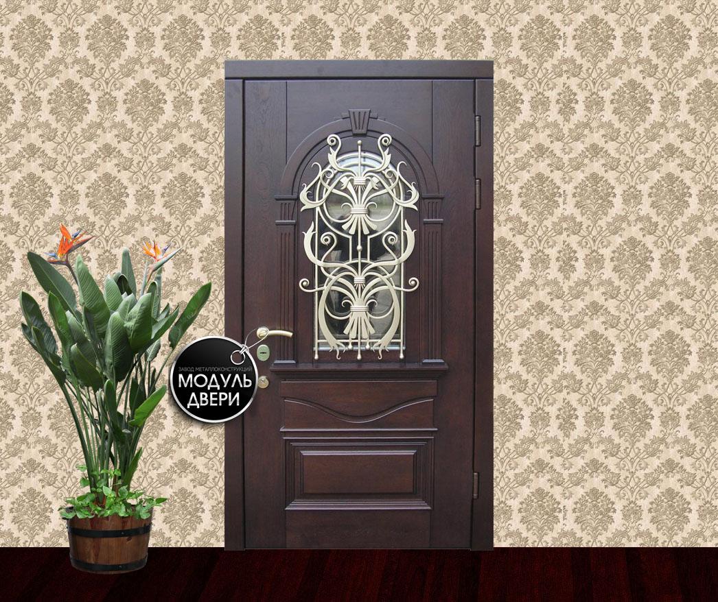входные двери со стеклом и ковкой в пушкино