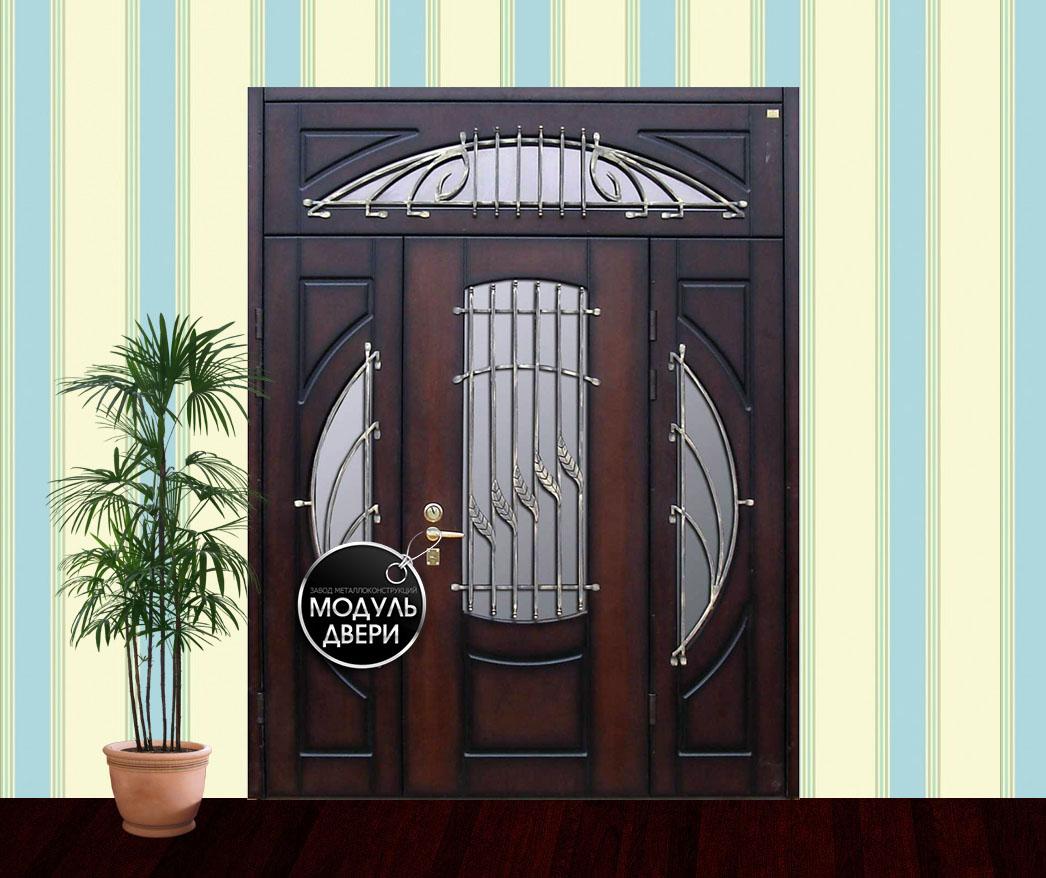 элитные двухстворчатые входные двери купить