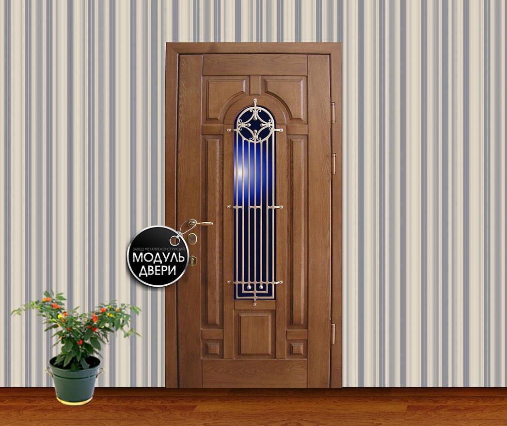 входная дверь со стеклопакетом щелково
