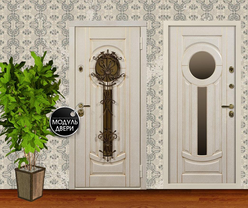стальная дверь в квартиру с ковкой