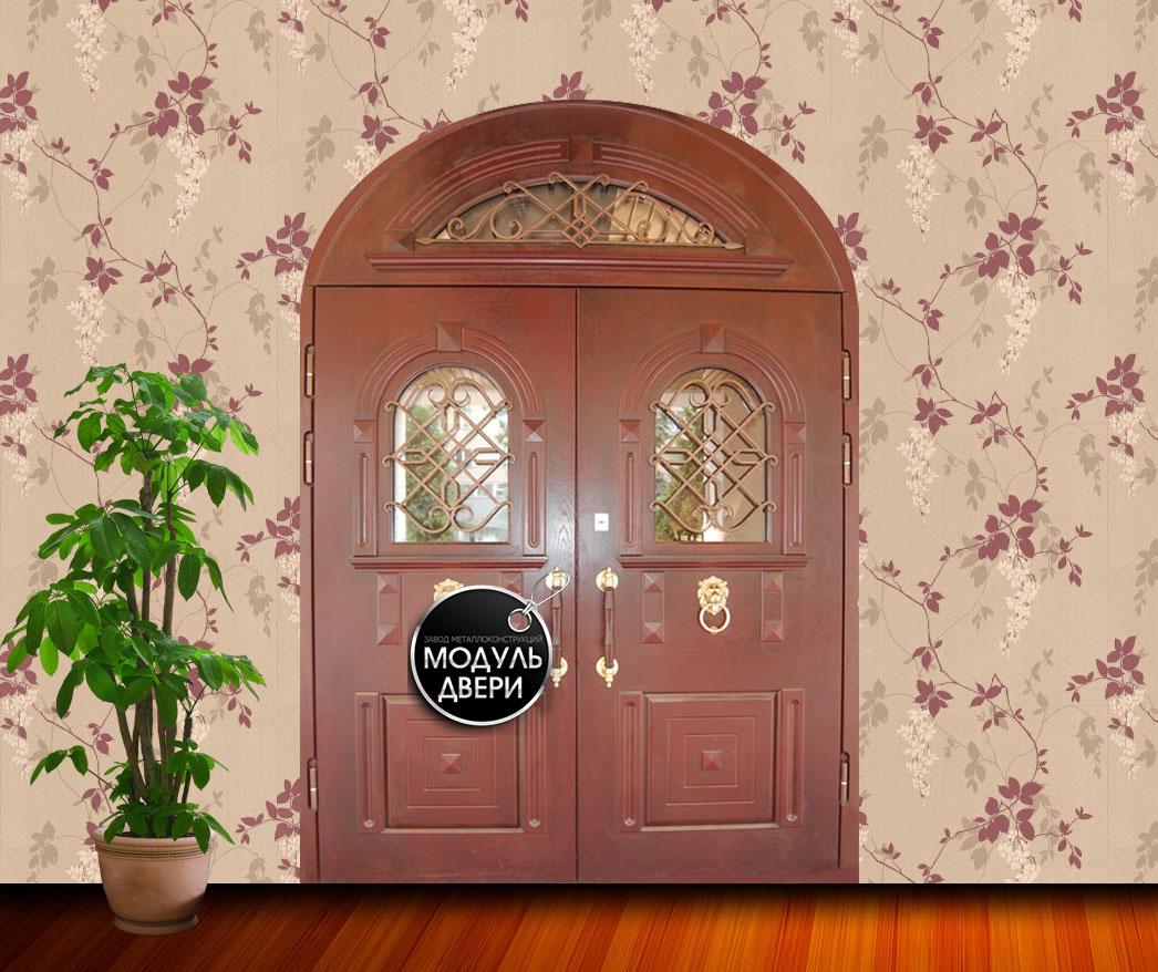 металлические двухлистовые входные двери