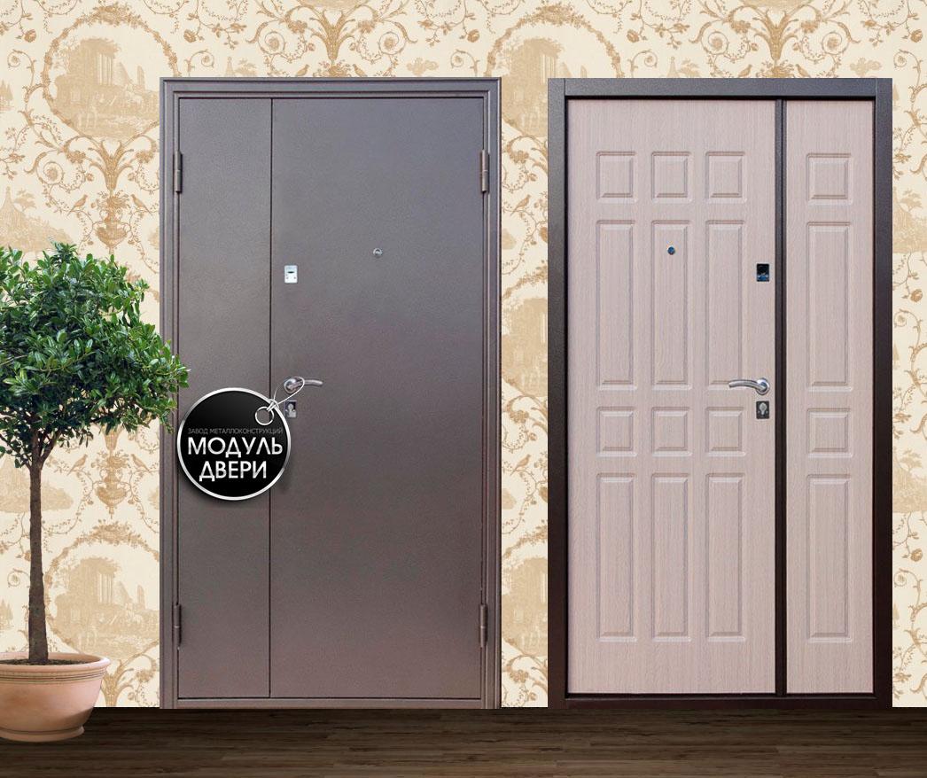 двустворчатая входная дверь с домофоном