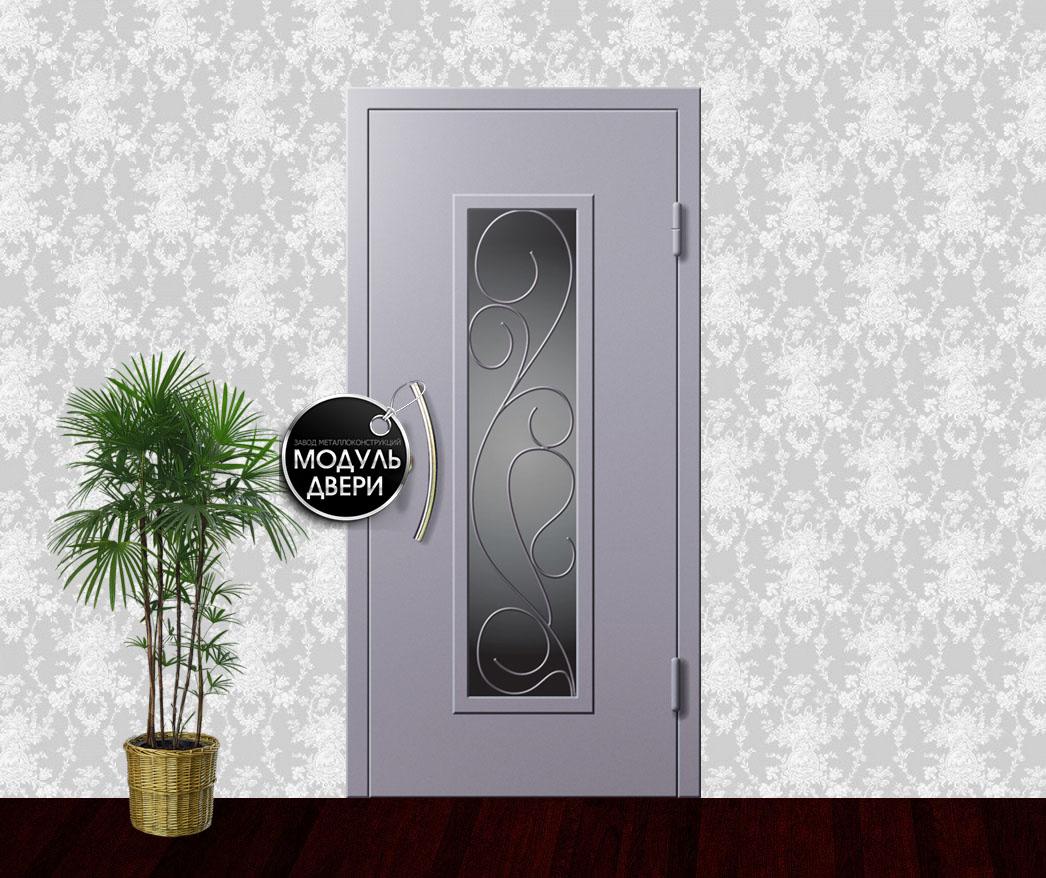 входные двери с порошковым напылением и художественной ковкой