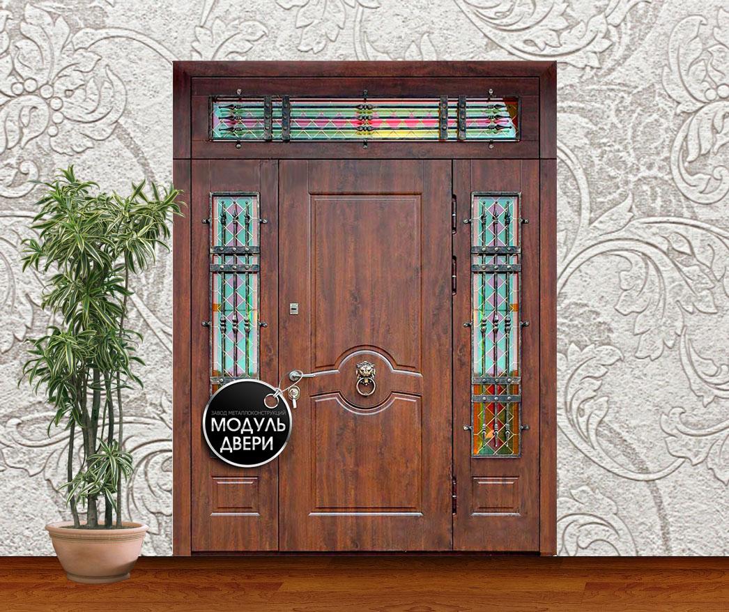 двери входные с отделкой ковка