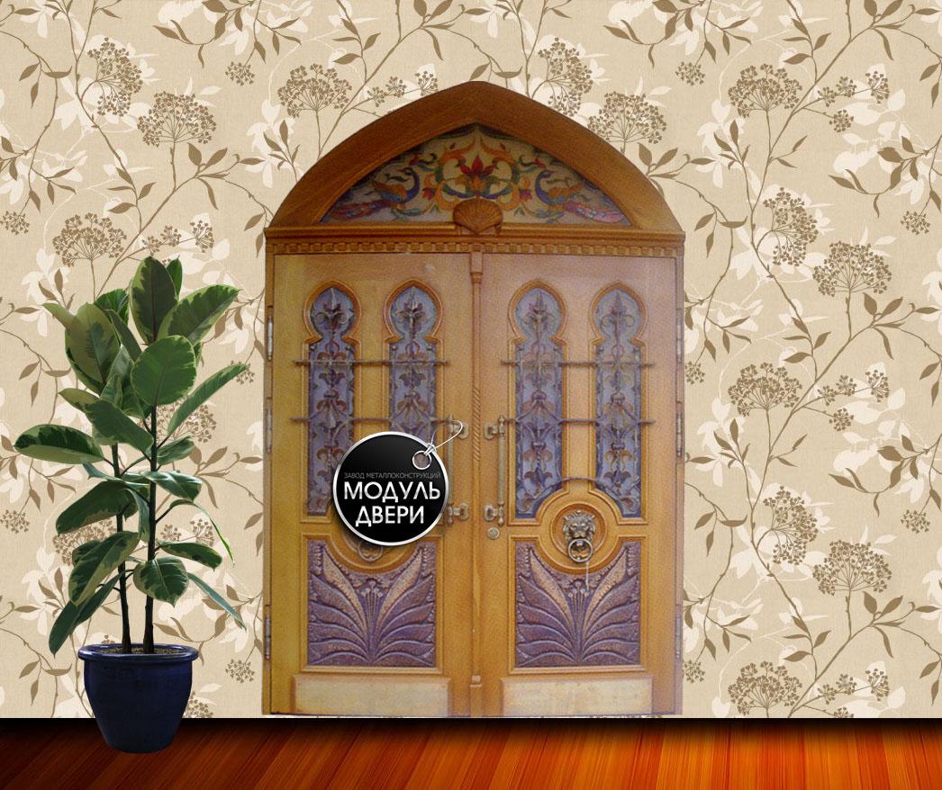 металлические двери для дома с фрамугой