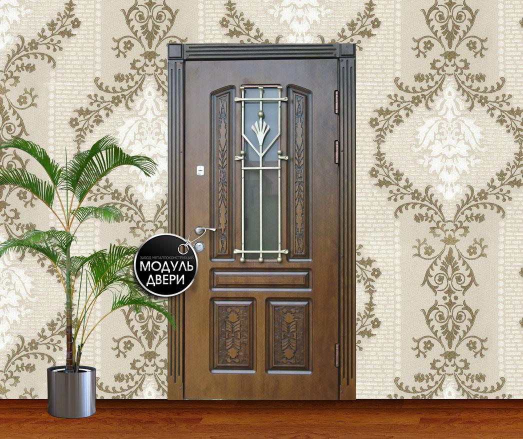 купить входн дверь со стеклом и ковкой