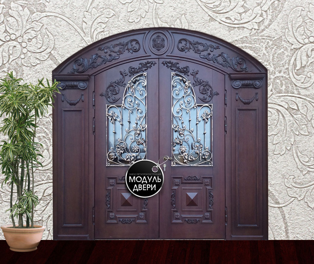 двери входные кованые двустворчатые