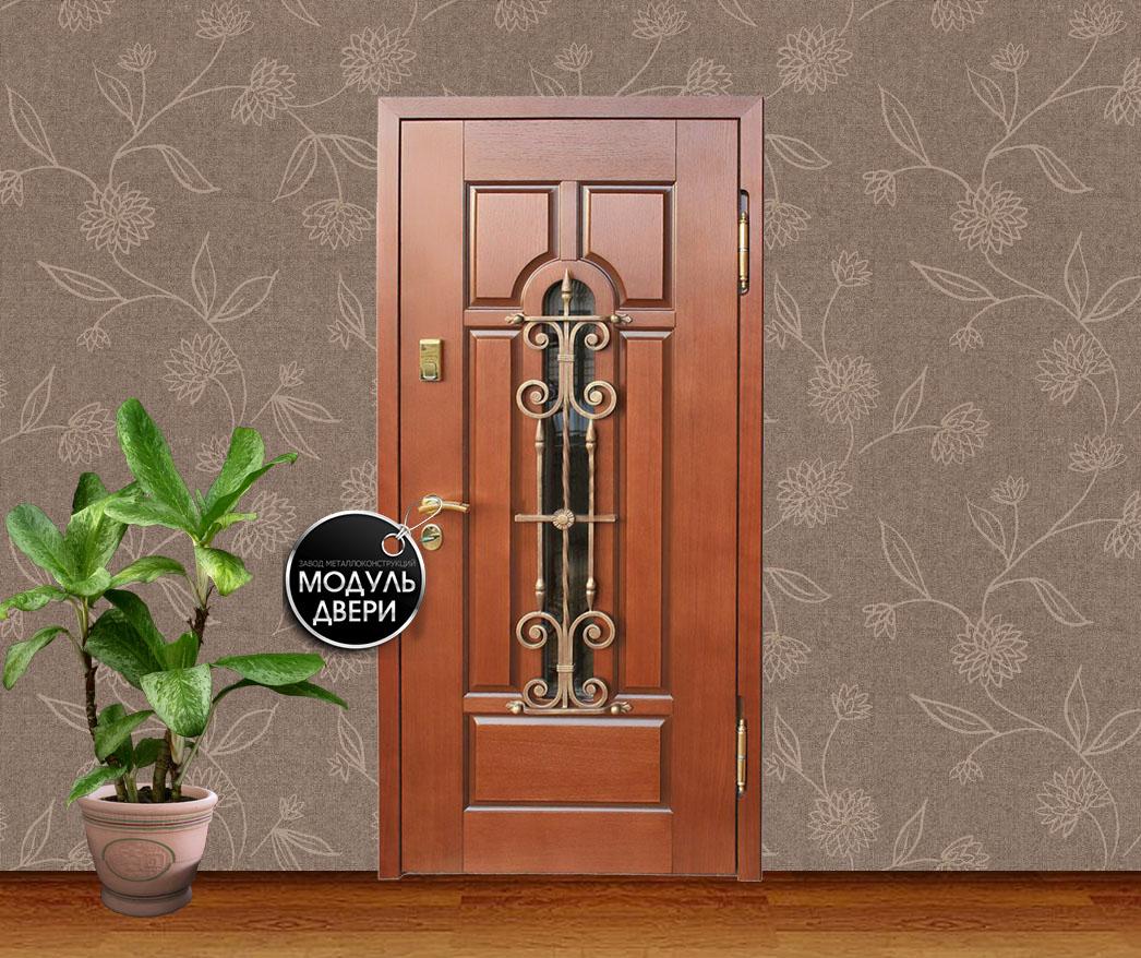 купить красивые входные двери с витражом