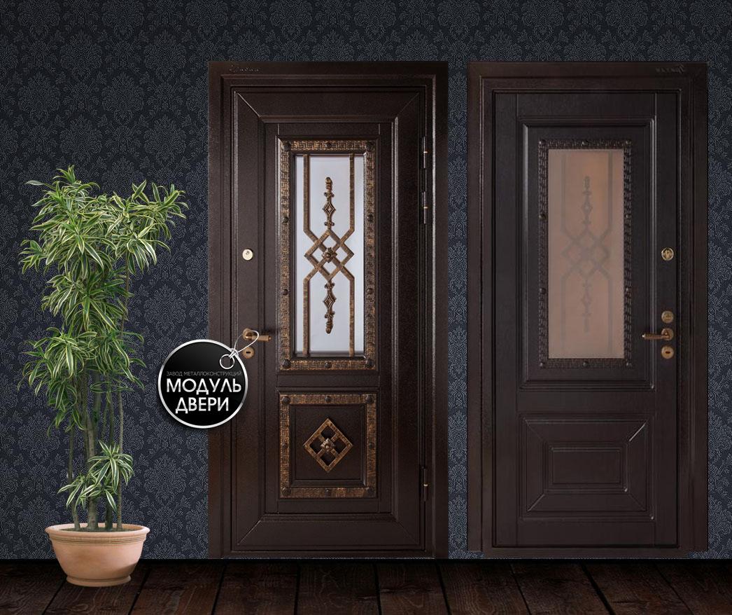 сертифицированные металлические двери со стеклом