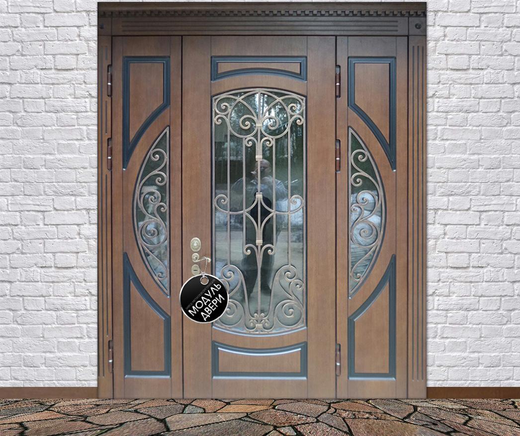 парадные двери стальные со стеклом