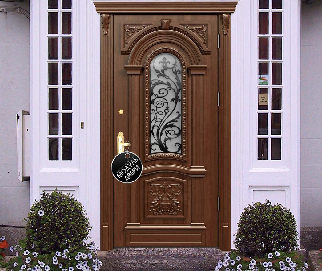 парадная железная дверь модерн