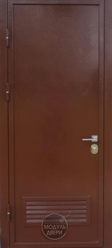 металлическая дверь со стеклом эконом класса