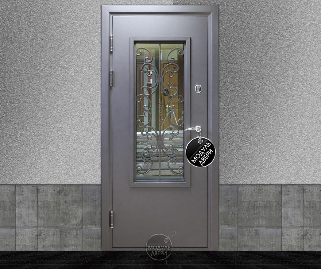 входная дверь в котельную со стеклом