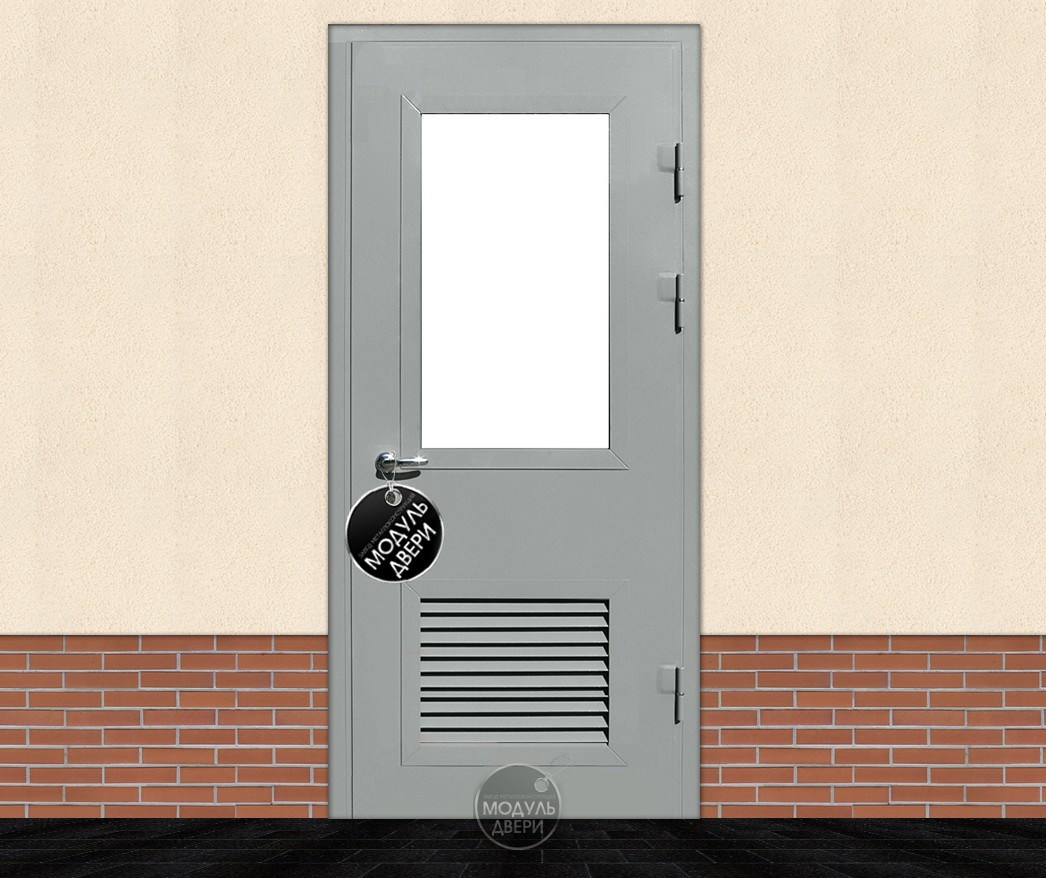 металлические двери с окном для котельных