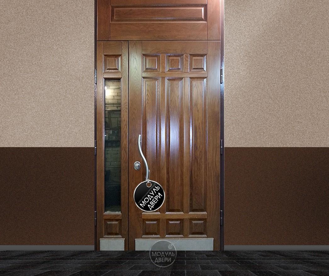 входные двухстворчатые двери на подъезд