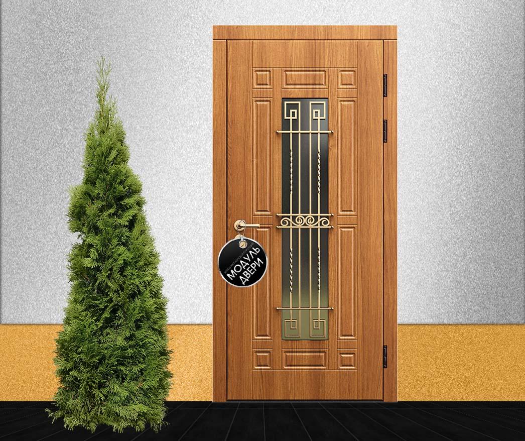 двухстворчатые металлические двери премиум класса
