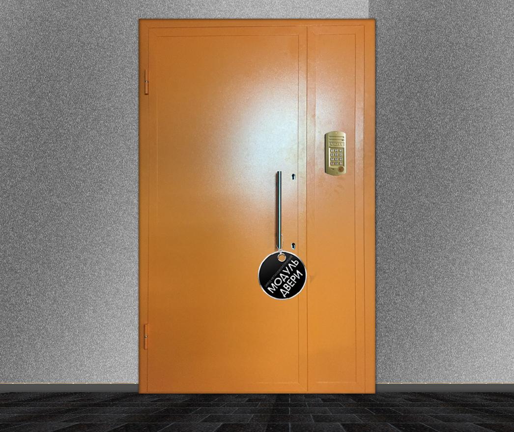 дверь металлическая двустворчатая подъездная