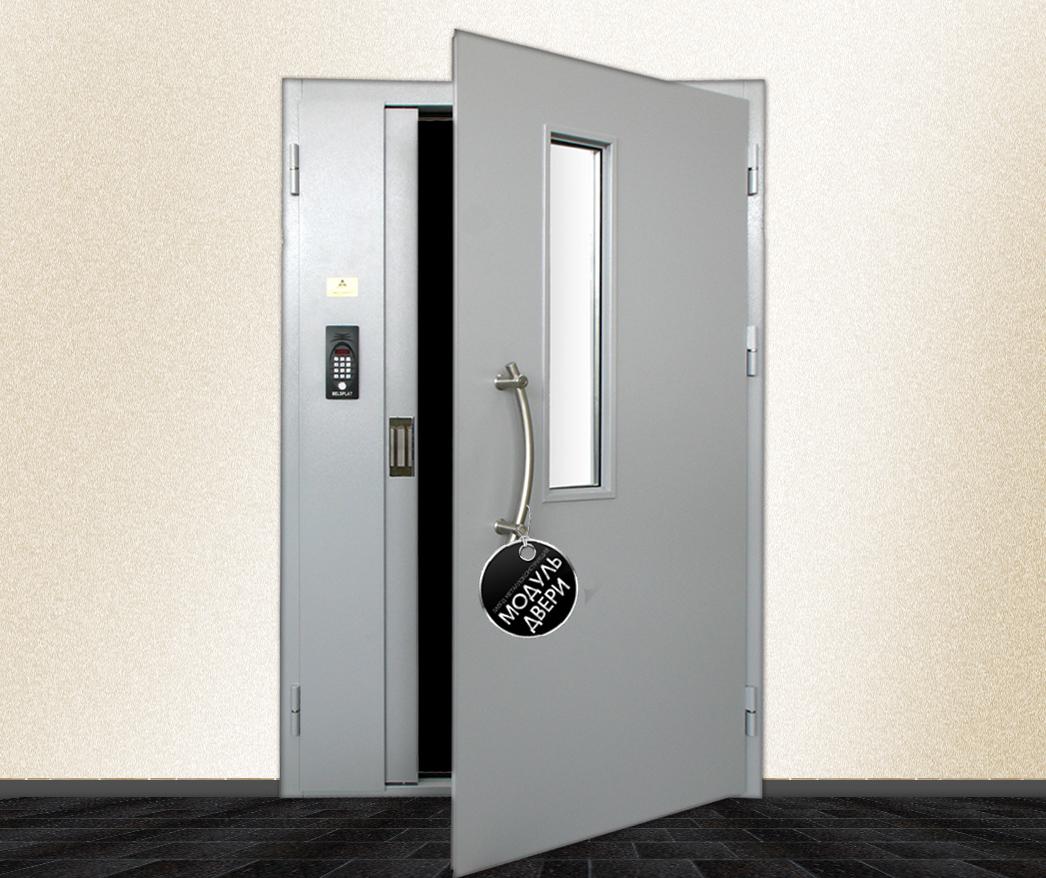 входная дверь в подъезд остекленная