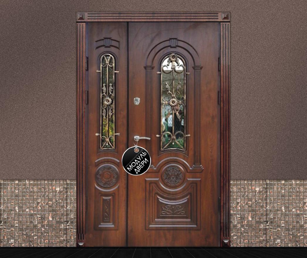 красивые входные двустворчатые двери