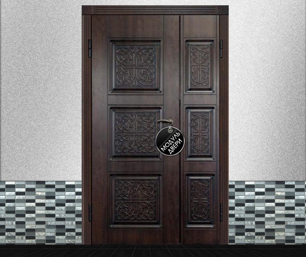 металлические двери двухстворчатые на 4 квартиры