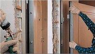 Установка металлической двери в проем